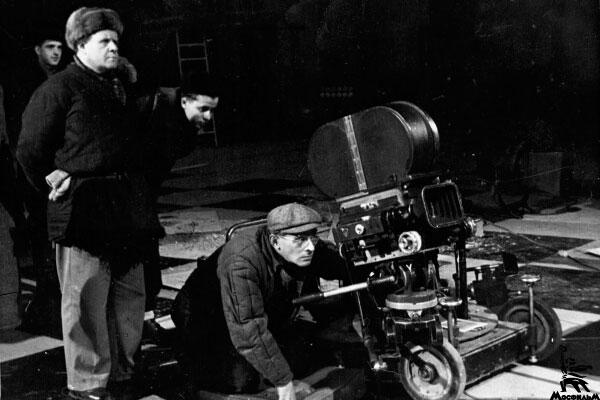 Сергей Эйзенштейн на съемках фильма. Фото из Информцентра Мосфильм-инфо