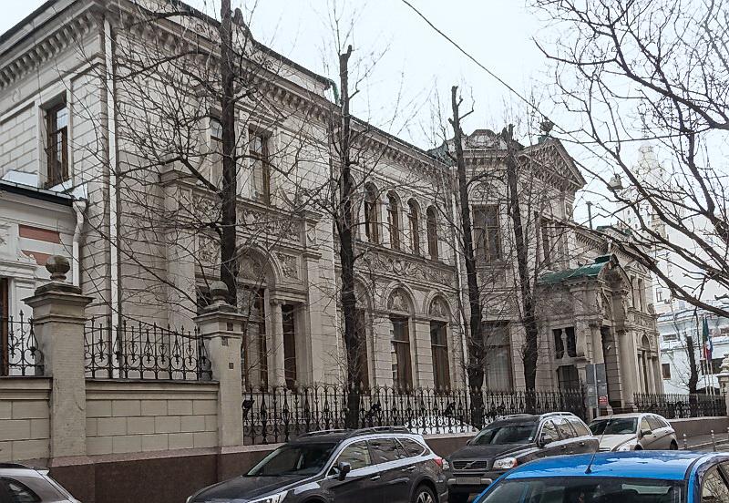 Городская усадьба Берга в Денежном переулке. Москва