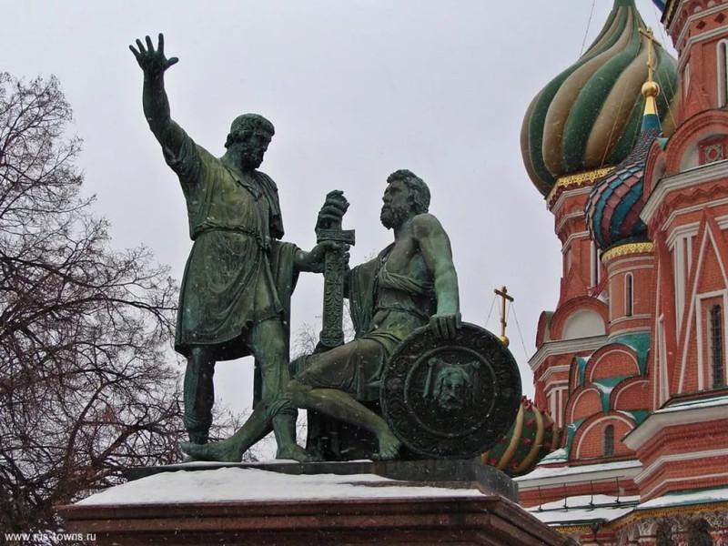 Москва. Памятник Минину и Пожарскому