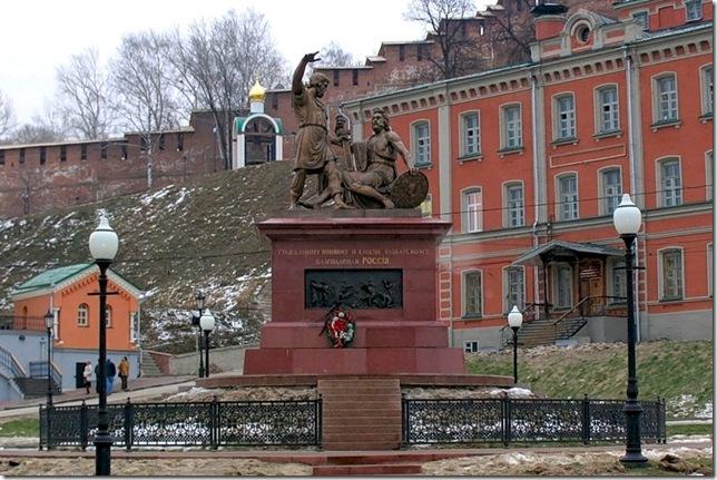 Памятник Минину и Пожарскому в Нижнем Новгороде.