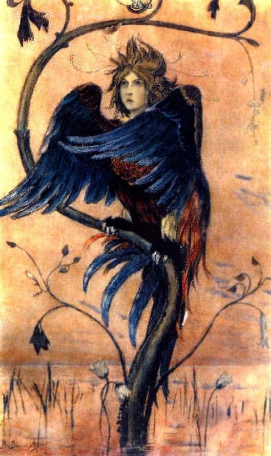 (Гамаюн, птица вещая –картина Виктора Михайловича Васнецова, 1897 год)