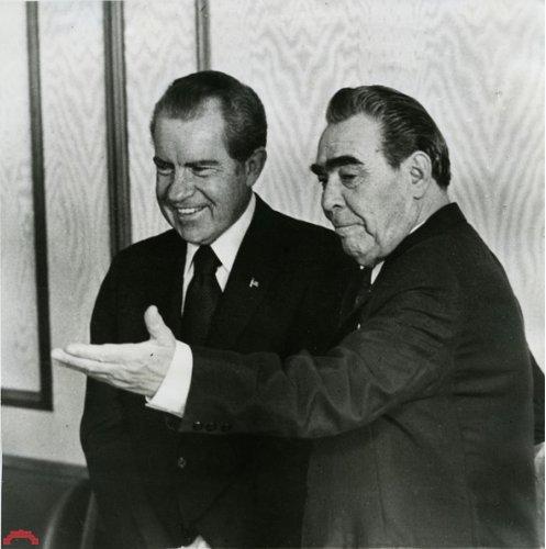 Леонид Брежнев с Ричардом Никсоном