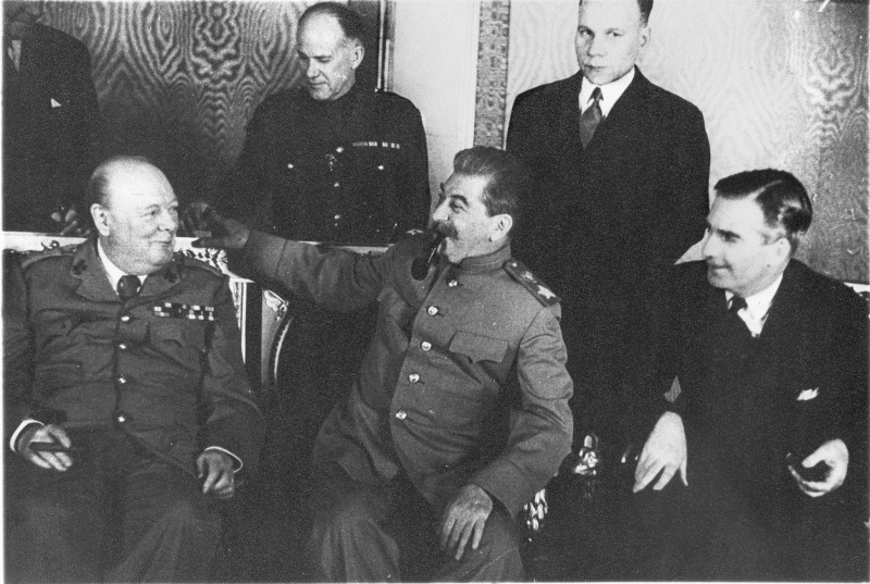 Встреча Сталина с Черчиллем в Кремле