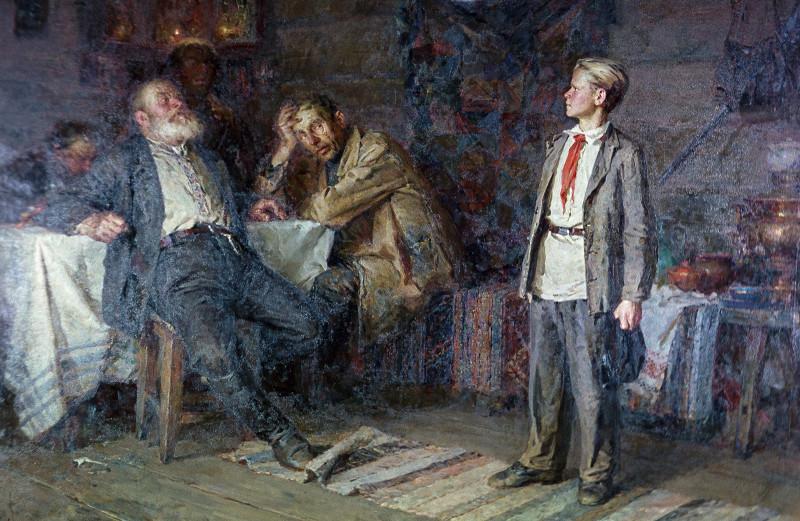 Картина Никиты Чебакова Павлик Морозов (1952 г.)