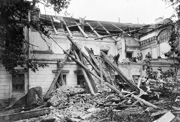Взрыв в Леонтьевском переулке. Москва