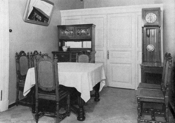 Столовая в квартире Ленина в Кремле.