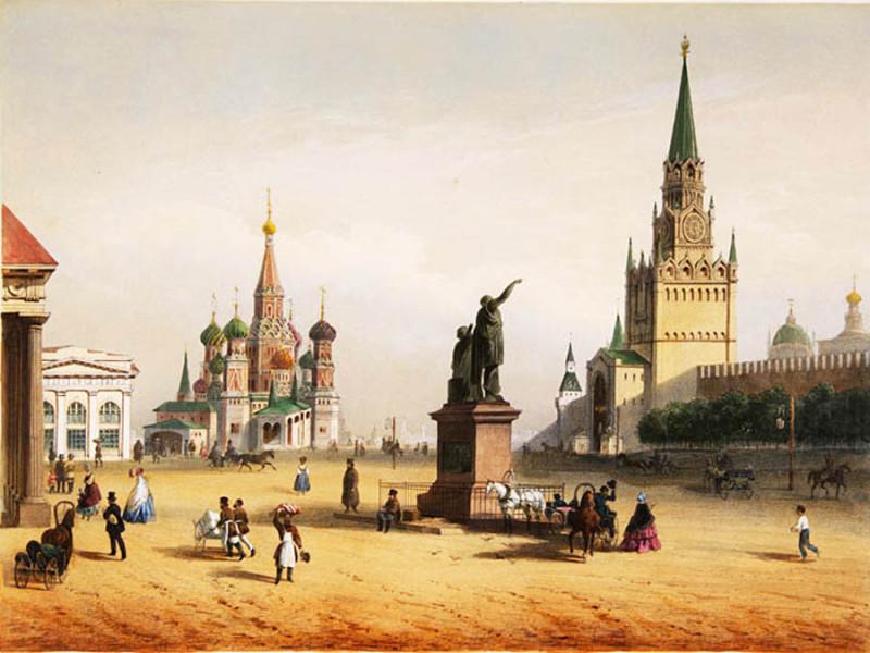 Вид на Кремль XIX век