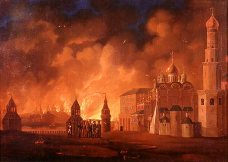 Пожар Москвы. Сентябрь 1812 года. Картина Смирнова А.Ф.