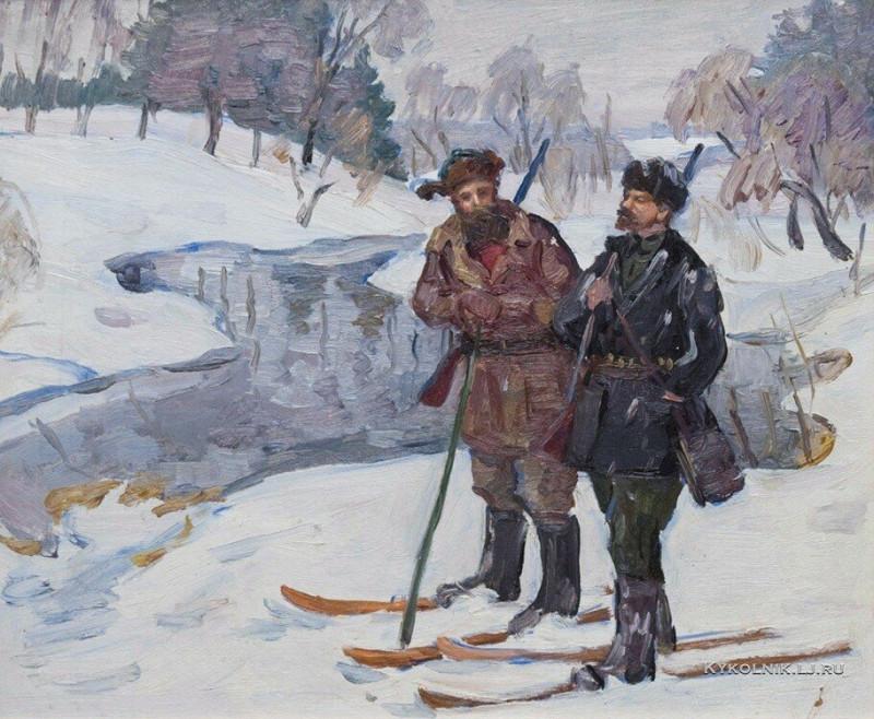 Дунчев Сергей Яковлевич (1916-2004) «Ленин на охоте»