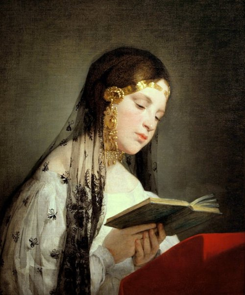 Friedrich van Amerling, Girl Reading