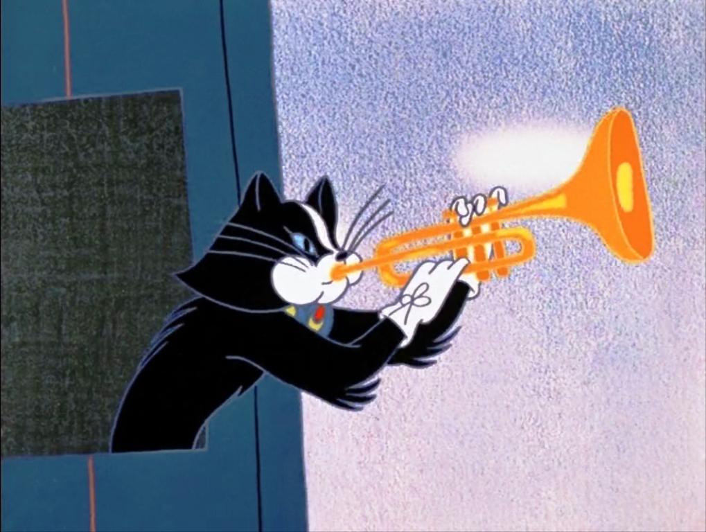 Кот с трубой
