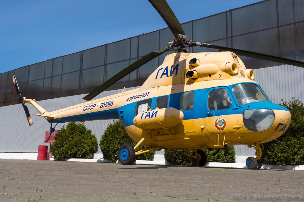 Миль Ми-2 в музее истории ГАИ-ГИБДД Кубани