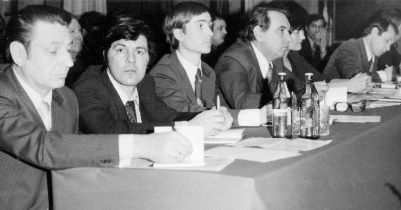 Президиум научно-технической конференции ПО «Юганскнефтегаз», конец 70-х годов прошлого века.
