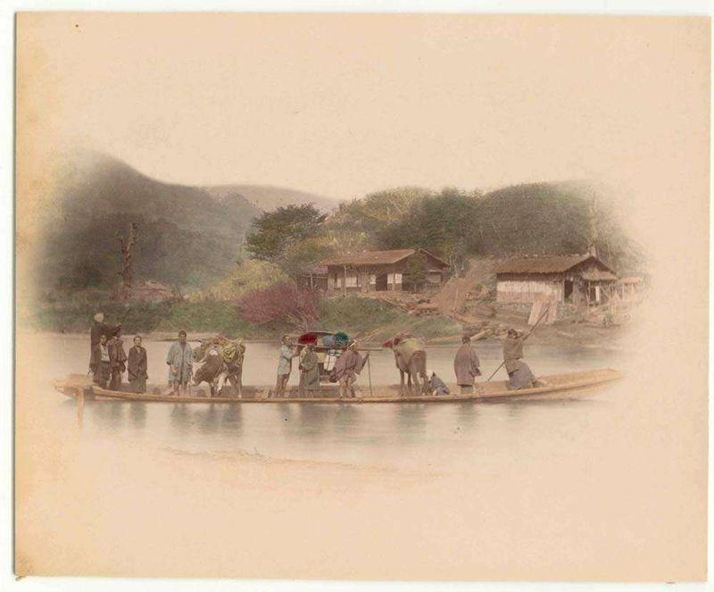 Транспорт Японии более 100 лет назад