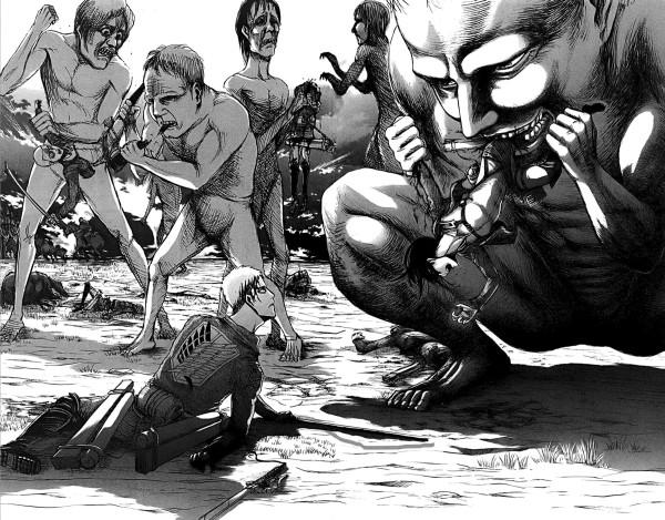 атака титанов 16