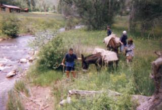 Burro packing, Philmont 1997