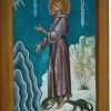 St. Cuthbert with Otters