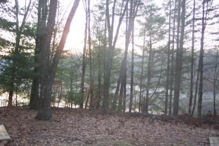 Winter sunrise over Lake Tarzian