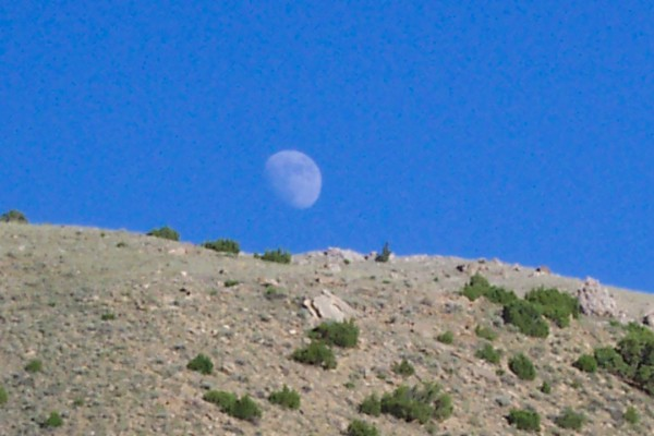 Moonrise over Wind River Canyon, WY 2003