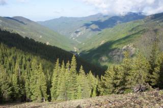 Looking down at Trailhead