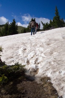 Trudging through the snowpack