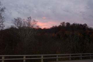 Dawn creeps over the hill