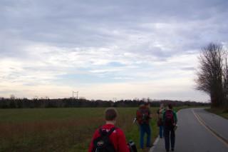 Blue sky peeping through clouds