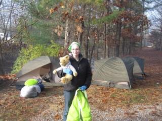 A bear to hibernate with