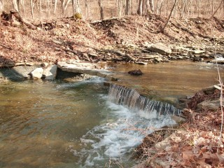 Upper falls on the Pishon