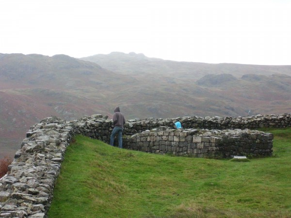 T.C. and Jeffrey look out over Eskdale