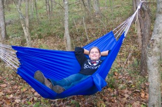 Big blue hammock