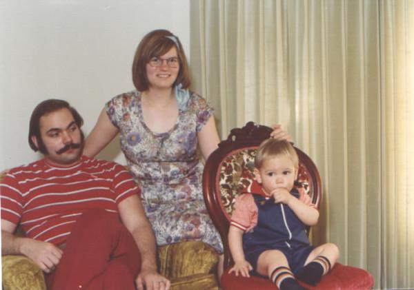 Young parents, c. 1976