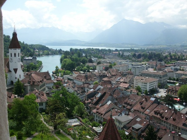 Thun from the castle battlements