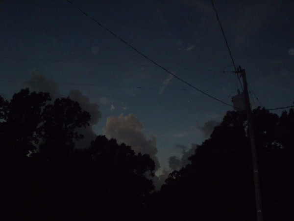 Darkness at mid-day