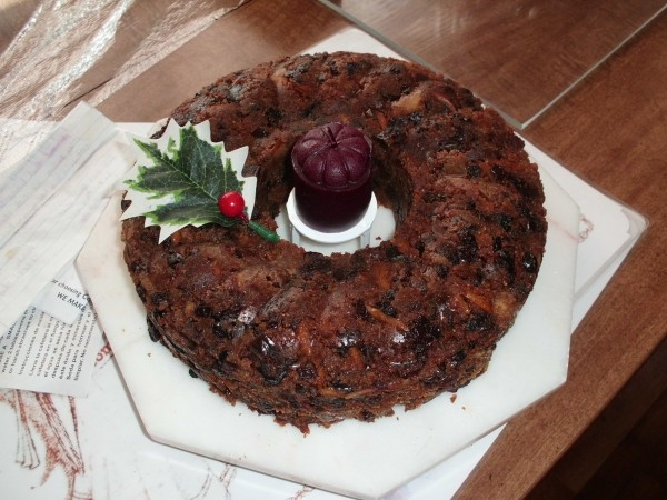 Plum pudding for church