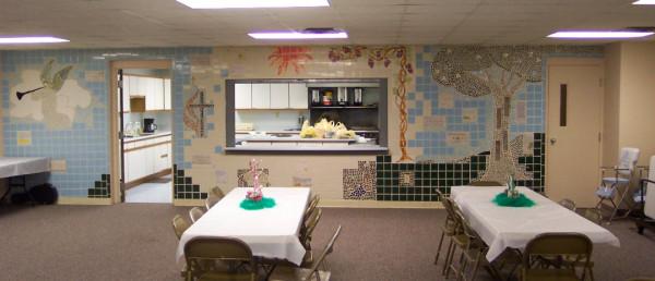 mosaic in fellowship hall