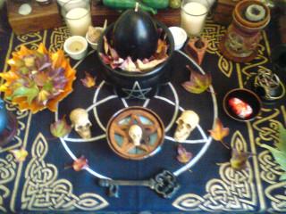Pagan Yule Altar