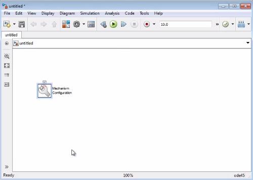 Рис. 4. Добавлен блок Mechanism Configuration.