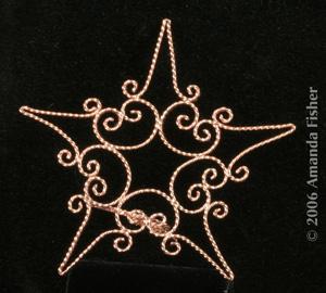 Copper Filigree Star Tree Topper