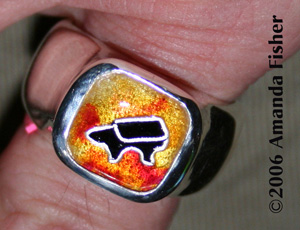 Blacksmith Ring #1: Top, on finger