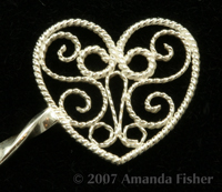 Filigree Hairstick: Detail