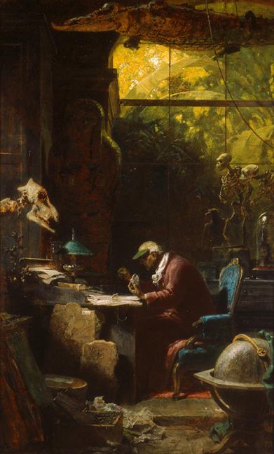Carl Spitzweg -  Scholar of Natural Sciences, ca. 1875–80.