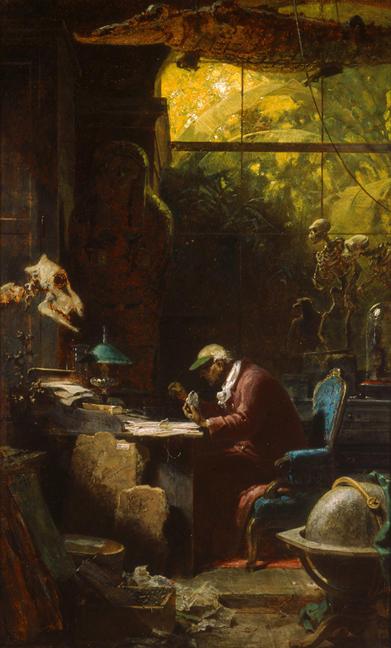 Carl Spitzweg -  Scholar of Natural Sciences, ca. 1875–80.