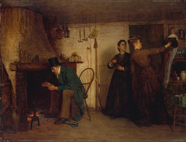 Eastman Johnson - The New Bonnet, 1876