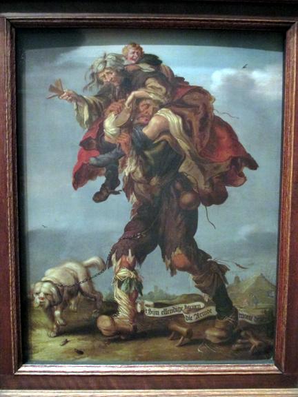 Andiaen Pietez van de Venne - Allegory of Poverty, 1630s