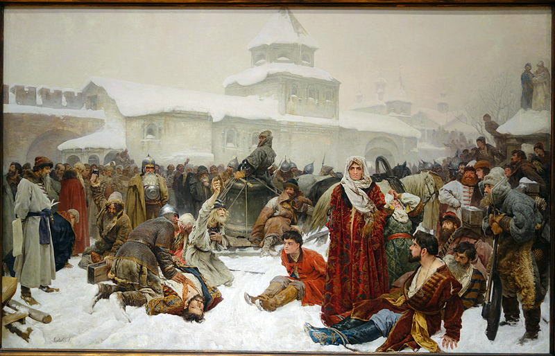 The_Fall_of_Novgorod_by_Klaudii_Vasilievich_Lebedev,_1891,_oil_on_canvas_-_Chazen_Museum_of_Art_-_DSC02351