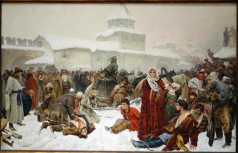 The_Fall_of_Novgorod_by_Klaudii_Vasilievich_Lebedev,_1891,_oil_on_canvas_-_Chazen_Museum_of_Art_-_DSC02351