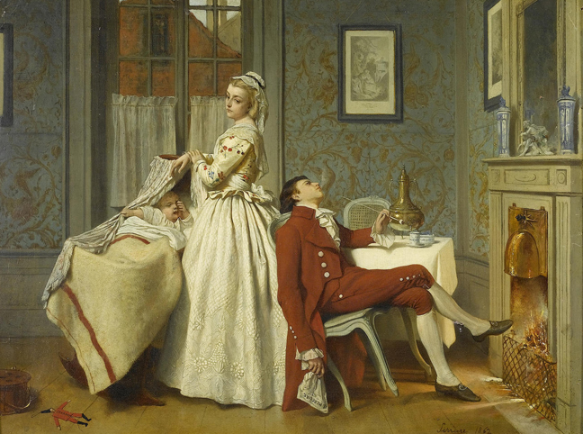 Auguste Serrure - After the Honeymoon (1862).jpg