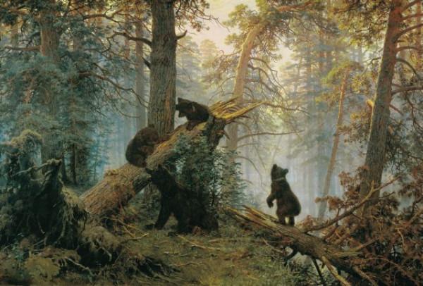 Утро в осеннем лесу (по мотивам :))) Shishkin