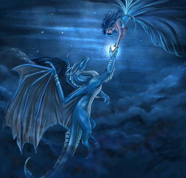 дракон девушка
